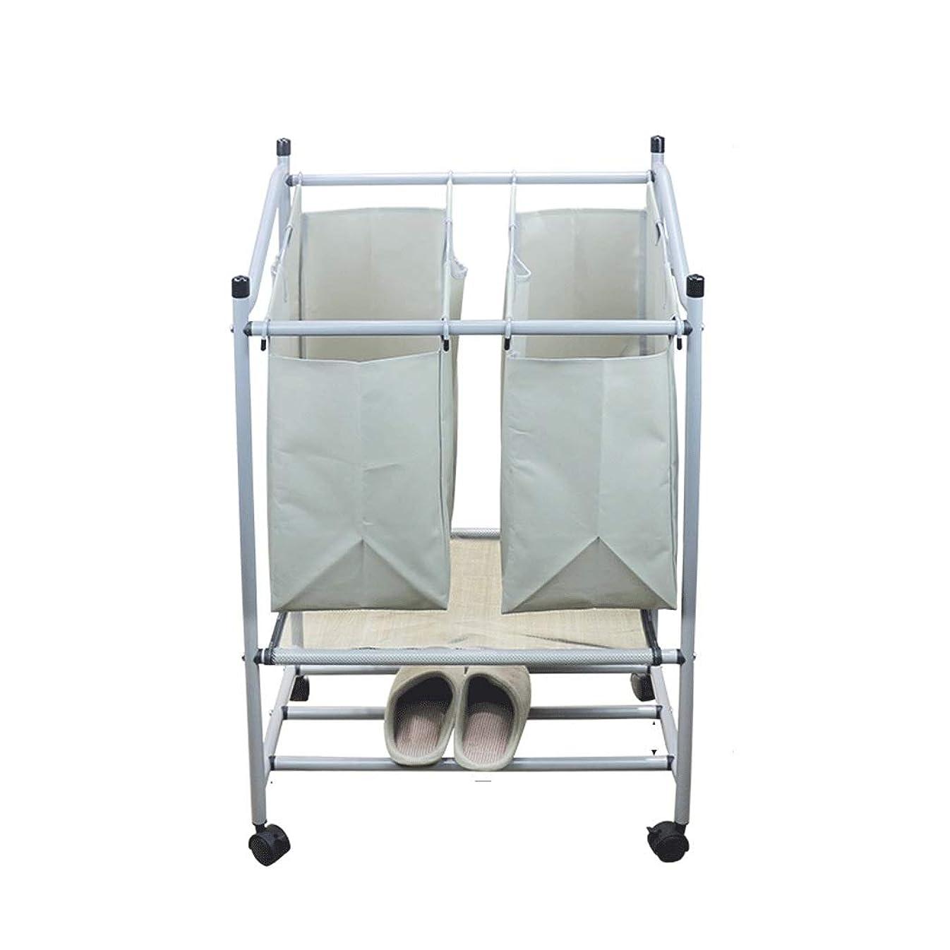 ペデスタルジェスチャー発動機分類された洗濯かご付きシューラック収納収納玩具収納ボックス大容量浴室用布地特大 (色 : Gray 2)