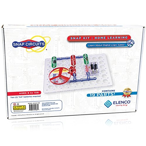 Snap Circuits Home School Education Electronics Exploration Kit | Over 30 STEM Projects | 4Color Project Manual | 19 Snap Modules | Perfect for STEM Curriculum