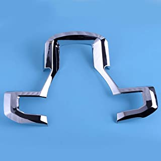 Chrome Steering Wheel Moulding Panel Cover Trim Decoration Stickers Fit For F150 F250 F350 Interior Styling