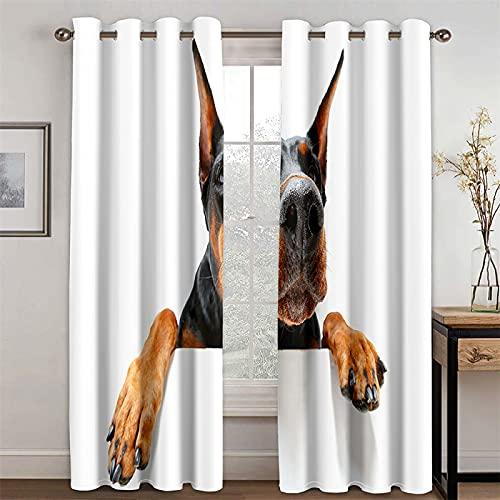 YUNSW Tende Bianche Stile Minimalista Tende Oscuranti E Termoisolanti per Soggiorno E Camera da Letto, Set di 2 (Total Width) 183x(Height) 214cm