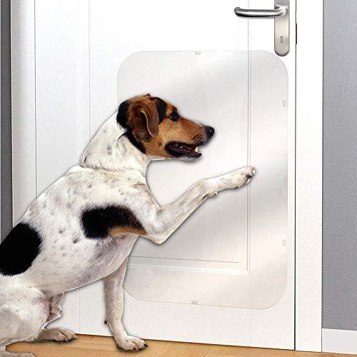feiledi Trade Tür-Kratzschutz, unsichtbar, leicht, Schutzfolie, für Türen, Fenster und mehr, schützt Ihr Zuhause vor eifrigen Pfoten und Krallen, 40,6 x 50,8 cm, Transparency, B:20inch