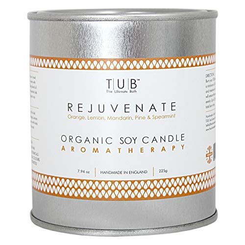 TUB - The Ultimate Bath Organic Soy Wax Kaarsen gemaakt met 100% pure essentiële oliën en katoen wicks Large Tin Candle