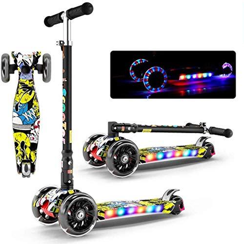 DJ-MJJ Scooter Unisex, Bildungs-Spielzeug for Kinder-Outdoor-Sportarten, 4 cm breit Rad, einstellbare Griffhöhe Falten glätten und sichere Konstruktion, Nicht elektrisch