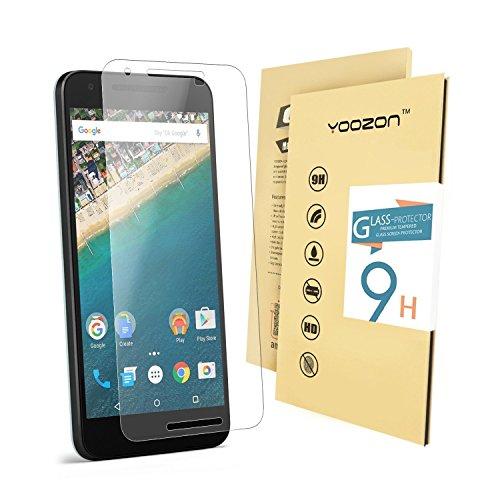 Nexus 5X Screen Protector,Yoozon Nexus 5X Tempered Glass Screen Protector, Ballistics Glass 0.3mm 9H Hardness Featuring Anti-Scratch, Anti-Fingerprint, Bubble Free,
