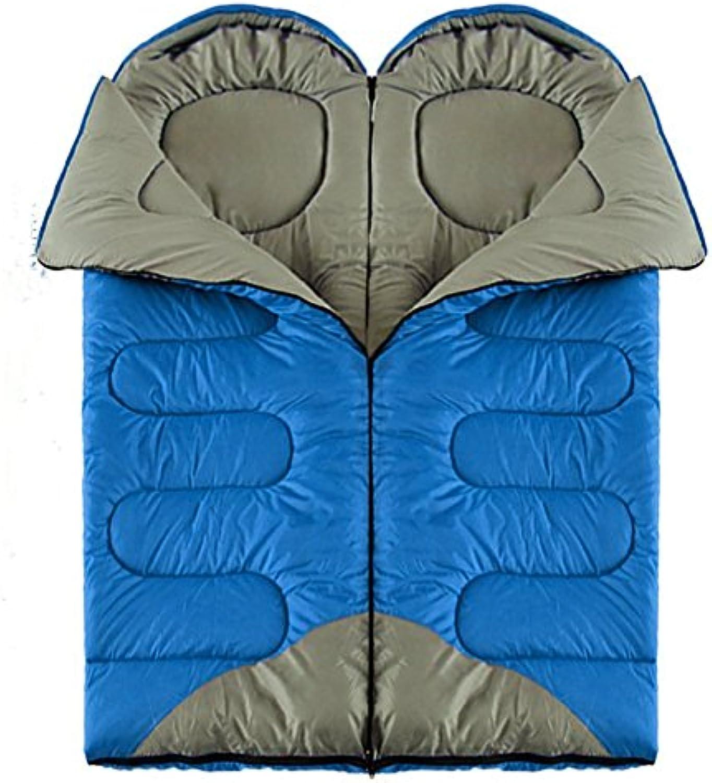 HUANLIN Camping Schlafsäcke, Erwachsene Schlafsack umschläge Dicke warme warme warme frühjahr und Herbst - Mittagessen doppel - Paar schlafsäcke im Camping tachun,Schlafsack B071L9TMT8  Markenschmaus 7afbf6