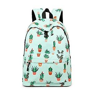 51Zkh+2mJOL. SS300  - Acmebon Mochila Escolar de Ocio Ligera y Moderna - Cartera Escolar para Niñas y Niños con Lindo Estampado Cactus 626