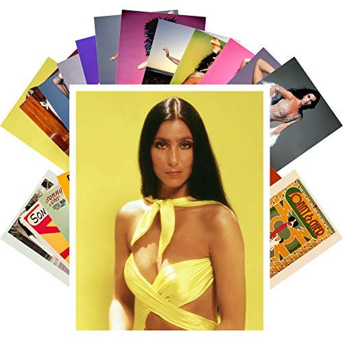 Postkarten-Set 24 Karten Cher Pop Musik Poster Fotos Vintage Magazin Cover