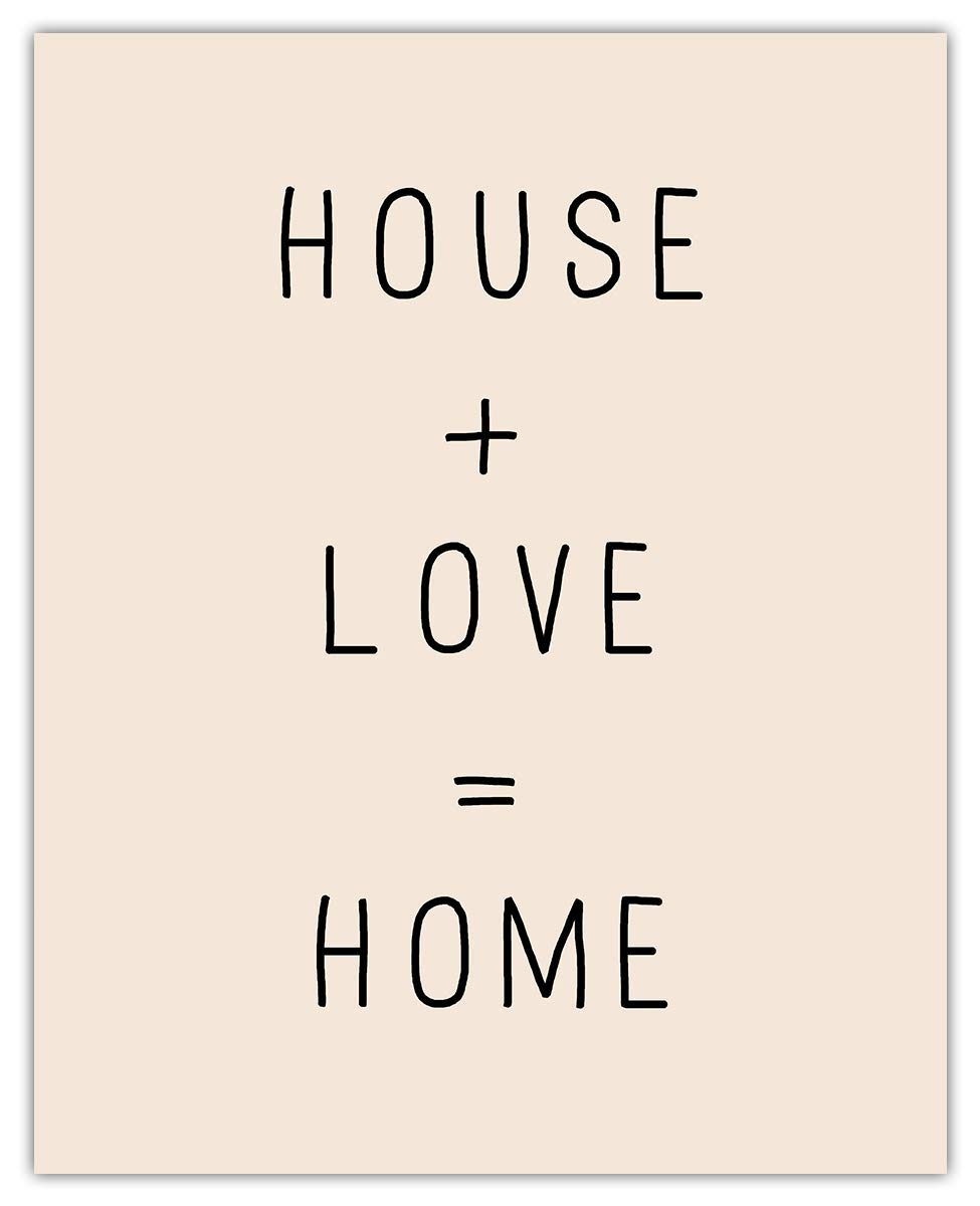 High material House Los Angeles Mall + Love = Home Typography Unique Wall Decor Art Room Print: