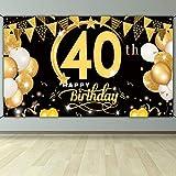 DANXIAN 40. Geburtstag Dekoration Schwarz Gold, Extra