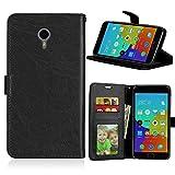 JEEXIA® Funda para Meizu M2 Note/Meizu Note 2 (5.5'), Moda Business Flip Wallet Case Cover PU Cuero con Soporte Cubierta Protectora - Negro
