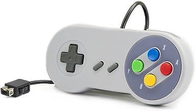 QUMOX Console de contrôle filaire pour Super Nintendo SNES Classic Mini Edition 2017