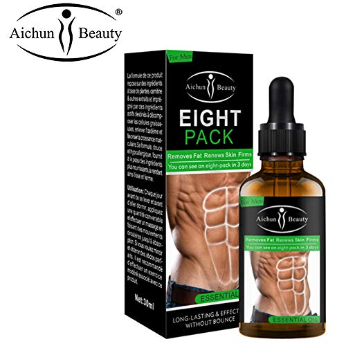 Aichun Beauty Eight Pack Abdominal Essential Oil For Men Strong Waist Manly Torso Smooth Lines Press Fitness Belly Burning Muscle Fat Remove Renews Skin Weight Loss Slimming Cream