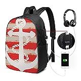 Zaino Scuola Donna Uomo Bambini Con Porta USB, Ancora 355 Zaino per Ragazzi e Ragazze Belle Daypack per Sport e Viaggi