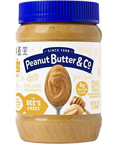 Peanut Butter & Co. Peanut Butter, Gluten Free, The Bee's Knees (Honey), 16 Ounce Jar