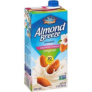 Almond Breeze Dairy Free Almondmilk Unsweetened Original 32 Ounce  Pack of 12