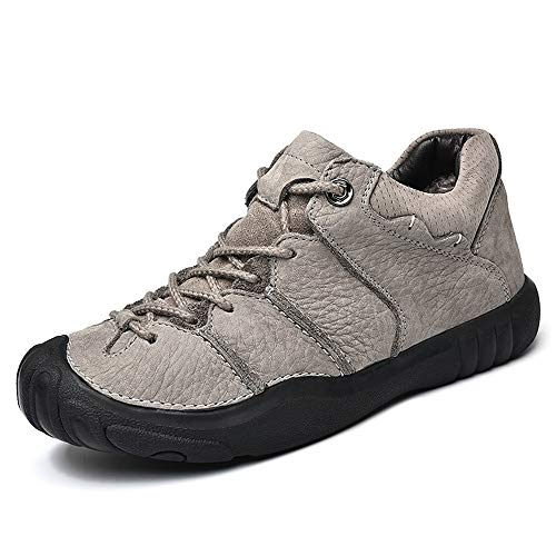 Jiuyue-shoes herfst/zomer 2018 sportschoenen heren Ox leer veters stijl fleece binnen anti-botsing toe comfortabel