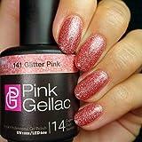 PINK Gellac 141 Purpurina Rosa UV nagellack. profesional Gel Esmalte de uñas Goma Laca para al menos 14 días Perfecto brillante uñas