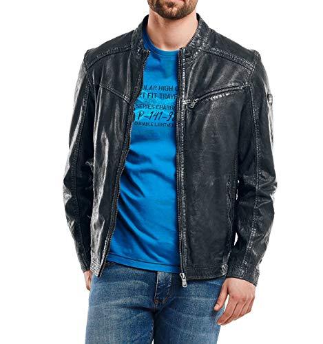 engbers Herren stylische Lederjacke, 27041, Blau in Größe 62