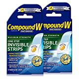 Compound W Maximum Strength One Step Invisible Wart Remover Strips, 14 CT, 2 Pack