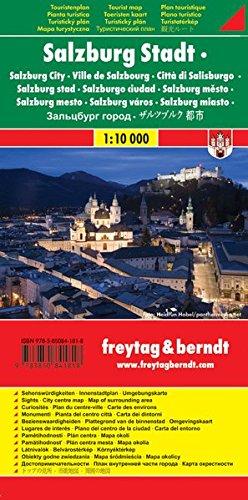 Salzburg Stadt, Stadtplan 1:10.000, Touristenplan: Stadskaart 1:10 000