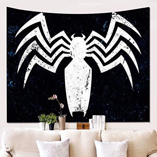 N/A Tapisserie 3D-Druck 3D Spider Polyester Tapisserie Wohnzimmer Staubdicht Dekorative Wandtuch Schlafzimmer Blackout Hanging Curtain Kunst Geschenk der modernen Modehauptdekoration