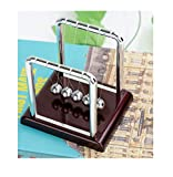 Olyee Newton's Cradle 5 Pendulum Balls Swinging Balls Physics Science Office Desk Decoration for Teacher Student, Classical Style