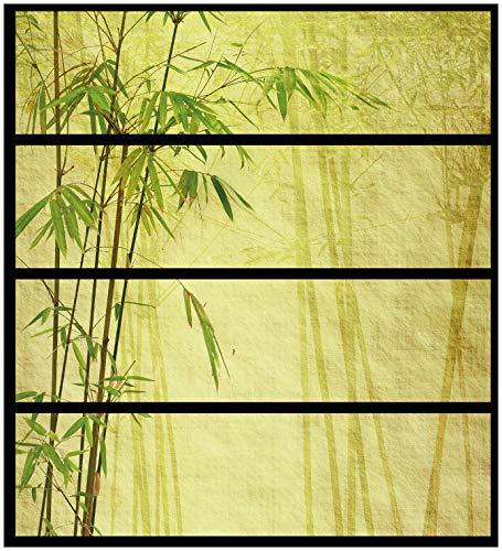 Wallario Möbelfolie/Aufkleber, geeignet für IKEA Malm Kommode - Antiker Bambus mit 4 Schubfächern