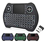 Mini Wireless Keyboard, Touchpad Mouse, 2.4GHz LED Backlit Multi-Media Handheld Android Box Remote Keyboard for Pc,Pad,Xbox 360, Ps3, Google Android Tv Box, Htpc, Iptv, Raspberry Pi