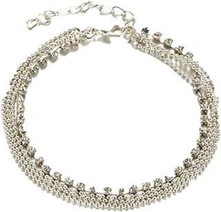 Joaillerie Bracelets De Cheville En Argent Avec Spirales Et 1 Sonnette