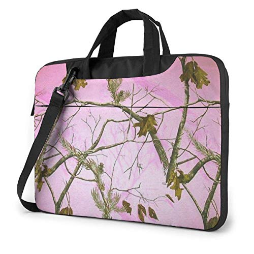 Laptop Sleeve with Handle 15.6 Inch Tablet Carrying Case Realtree Pink Camo Branch Laptop Shoulder Bag
