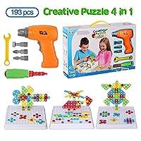 Apprendimento precoce: questo set di giocattoli sviluppa le capacità di riconoscimento dei colori e di progettazione edilizia per bambini. Ore di divertimento: ci sono più di 30 stili di assemblaggio 2D e 3D, è possibile seguire il manuale o assembla...