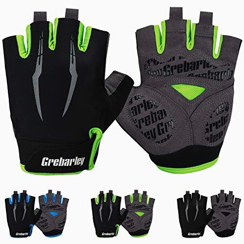 Grebarley Fahrradhandschuhe,Radsport Handschuhe als Halbfinger Variante,Geeignet fürs Rennrad und MTB fürs Männer und Frauen