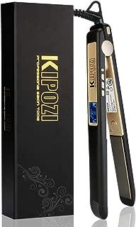 KIPOZI ヘアアイロン2way ストレートカール 両用 高性能 男女兼用 海外対応 プロ仕様25mm 130-230℃温度調整 LCDスクリーン 自動OFF PSE認証 ブラック