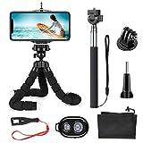 SmilePowo Mini Trépied Flexible Portable pour Smartphone iPhone Téléphone GoPro Caméra Appareil Photo avec Télécommande...