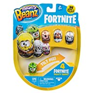 Grab your Beans squad and roll into battle. Make them flip, tip, roll but not topple. Collect em' all and get your game face on. Will your bean score the Victory Royale?. Includes 4 Fortnight Mighty Beans