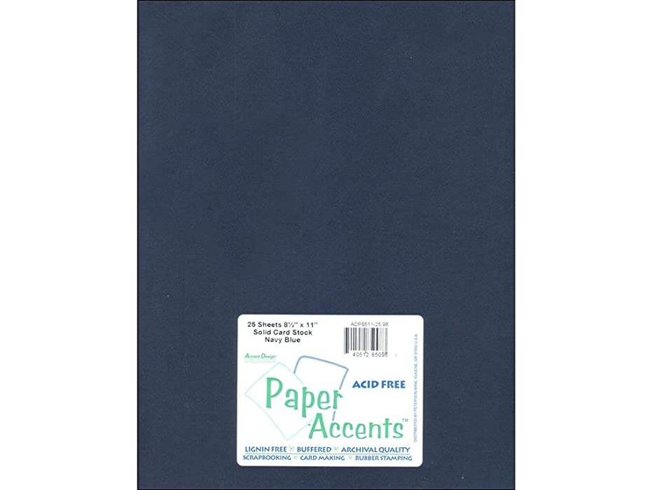 Accent Design Paper Accents Cdstk Smooth 8.5x11 80# Navy Blue