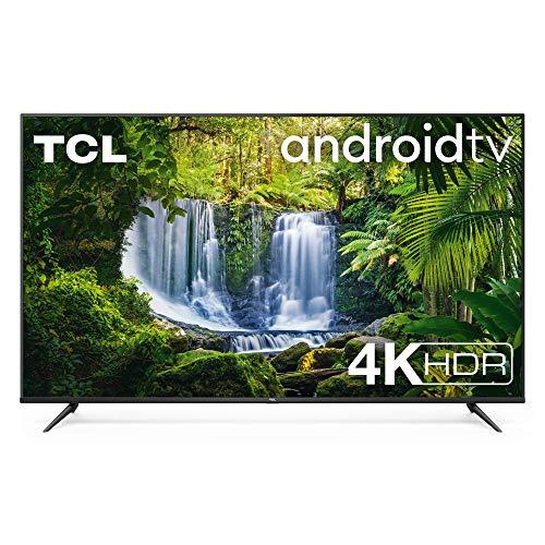 TCL TV 75P616 75 Pollici, 4K HDR, Ultra HD, Smart TV con Sistema Android 9.0, Design Senza Bordi, Micro Dimming PRO, HDR 10, Dolby Audio, Compatibile con Google Assistant & Alexa