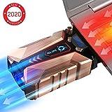 KLIM Cool + Refroidisseur PC Portable en Métal - Le Plus Puissant - Extracteur d' Air USB pour...
