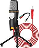 High Performance: high quality Condenser mic,works with any PC with 3.5mm Jack .The Mic is widely used in PC, Laptop,Camera,Tablet Ideal For youtubers,voice recording,Video Conference ,Gaming,Streaming, Podcast,BroadcastingStudio Recording,conversati...