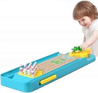 Heyuni.Mini Bowling Game, Mini Frog Plastic Desktop Bowling Game Mini Tabletop Bowling Toy Classic Desk Ball for Kids and Adults