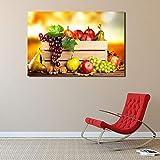YIYEBAOFU DIY Pintar por números Papel Pintado de Frutas Minimalista Arte de la Pared y Pintura Impresa Pintura Decorativa Cocina Dormitorio decoración del hogar40x60cm(Sin Marco)