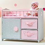 Olivia's Little World- Habitación de bebé para muñeca, Color Rosa/Gris (Teamson TD-12390A)