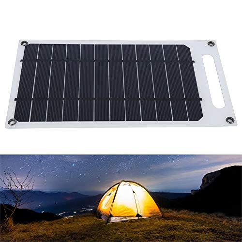 DaMohony - Caricatore solare portatile USB con pannello solare, ultra sottile per Suaoki generatore portatile Webetop, per dispositivi USB per iPhone 11/Xs/XS Max/XR/X/8/7
