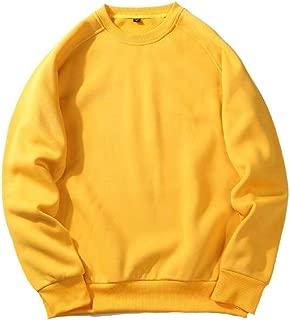 Men's Caual Loose Fit Crew Neck Long Sleeve Pullover Sweatshirt Top