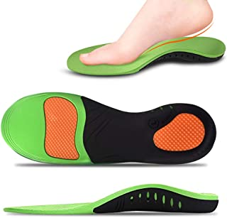 Pamyvia Plantar Fasciitis Feet Insoles High Arch Supports Orthotics Inserts Relieve Flat Feet for Men&Women