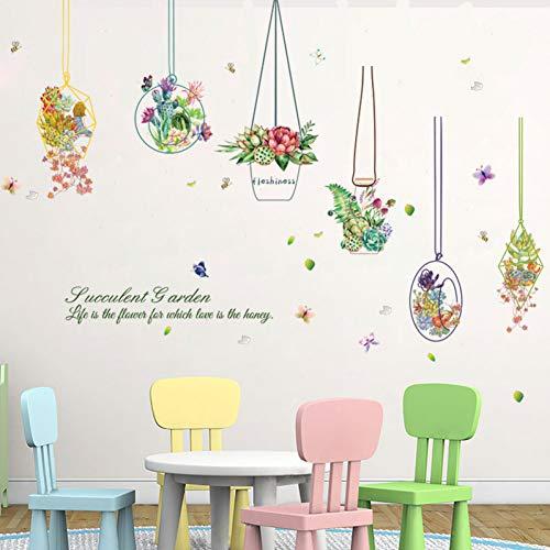TYLOLMZ Suculentas mand, muurstickers, decoratie voor thuis, voor kinderen, kamerdecoratie, woonkamer, muurkunst