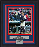 """Twins Joe Mauer Final Game 8"""" x 10"""" Framed and Matted Baseball Photo with Engraved Autograph"""