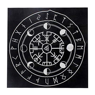 Hzemci Tarot Tablecloth - 49CMX49CM Tarot Tablecloth, Black Wear Resistant Tarot Cloth, Tarot Tapestry, Altar Cloth, Altar Supplies