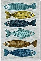 新しい250×180センチキャンバスウォールアートバーラップホームデコレーションカラフルな異なる緑の魚を背景として使用できますウォールストリートアートバンクシーペインティングホームモダンデコレーション画像キャンバスプリントウォール
