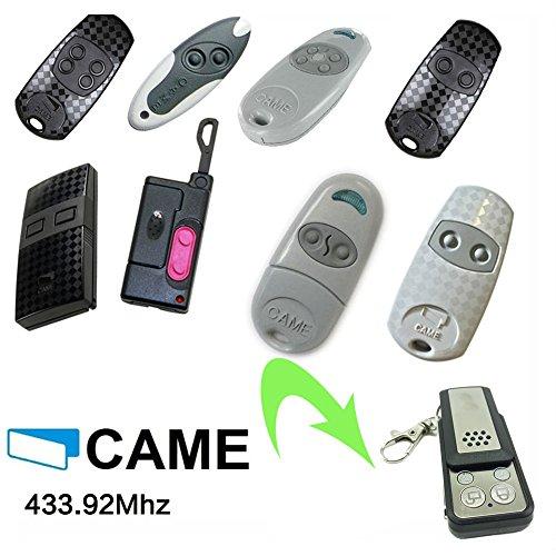 CAME Universal Garagentor Fernbedienung Kompatibel Sender Geeignet für TOP432EV | TOP434EV | TOP432SA | TOP432S | TOP432M | TOP434M | TAM432SA TWIN2 | TWIN4 | T432, ersatz klone
